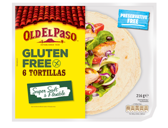 Six Medium Gluten Free Tortillas
