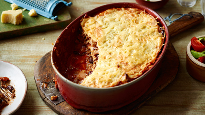 Cheesy Layered Mexican Lasagne