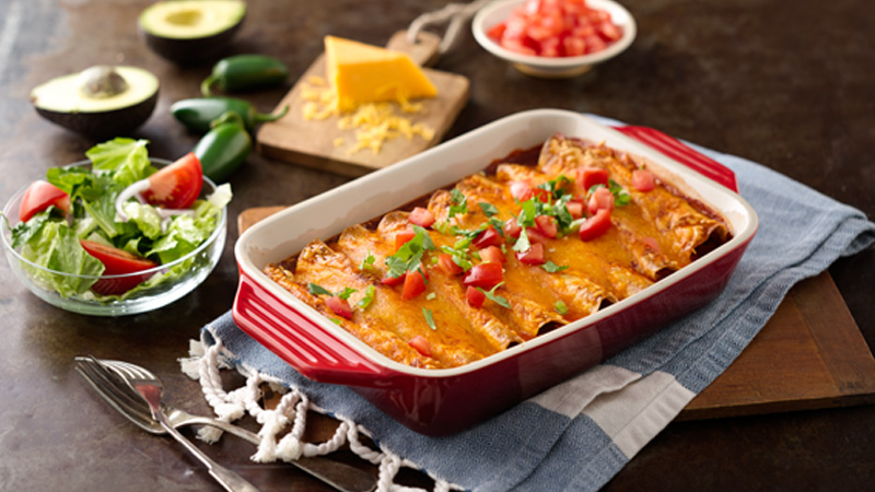 Easy Chicken and Black Bean Enchiladas