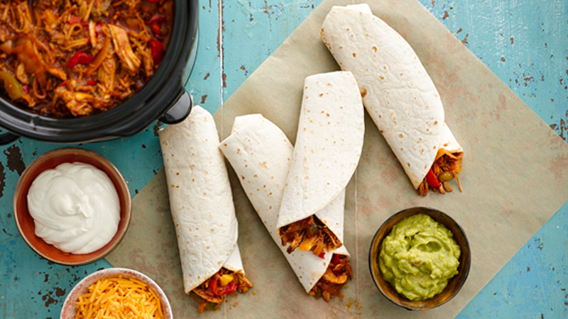 Slow-Cooker Barbecued Pulled Pork Fajitas